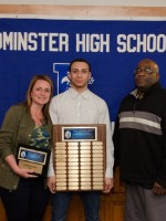 Christion Lewis with Mom and Mike Austin