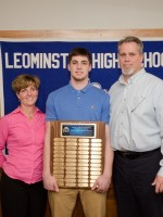 Connor Skinner with parents