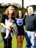 Brianna Gauthier w/Parents Nancy & Fred Gauthier