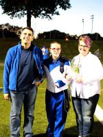 Megan Riesmeyer w/Parents Lynn Pierce & Michael Riesmeyer