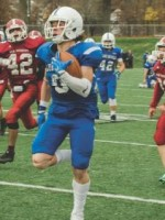 LeominsterÕs Travis Storm returns a kickoff 88 yards for a touchdown during ThursdayÕs Thanksgiving Day game against Fitchburg at Doyle Field.  SENTINEL & ENTERPRISE / ASHLEY GREEN