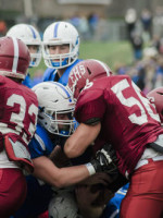 Leominster and Fitchburg clash in the annual Thanksgiving day game on Thursday morning. Leominster came out on top 49-12 over Fitchburg. SENTINEL & ENTERPRISE / Ashley Green