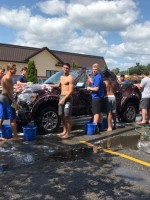How many Blue Devils does it take to wash a car?