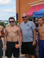Felipe, Connor, Coach Salvatelli and Adam Couch