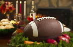 Thanksgiving Football Pigskin Instead of Traditional Turkey Dinner