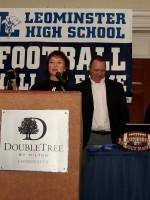 Angela Wallace accepts Mike's award