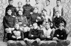 WHERE IT ALL STARTED: When the Fitchburg and Leominster football teams take the field today, theyÕll carry with them more than 120 years of hard-fought Thanksgiving tradition. HereÕs the Fitchburg team in 1894. COURTESY OF THE FITCHBURG HISTORICAL SOCIETY