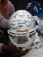 Signed helmet from football players